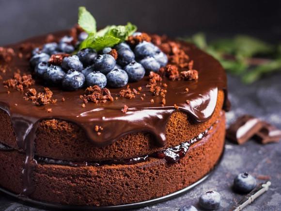 Торта с кафе